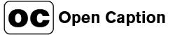 open caption